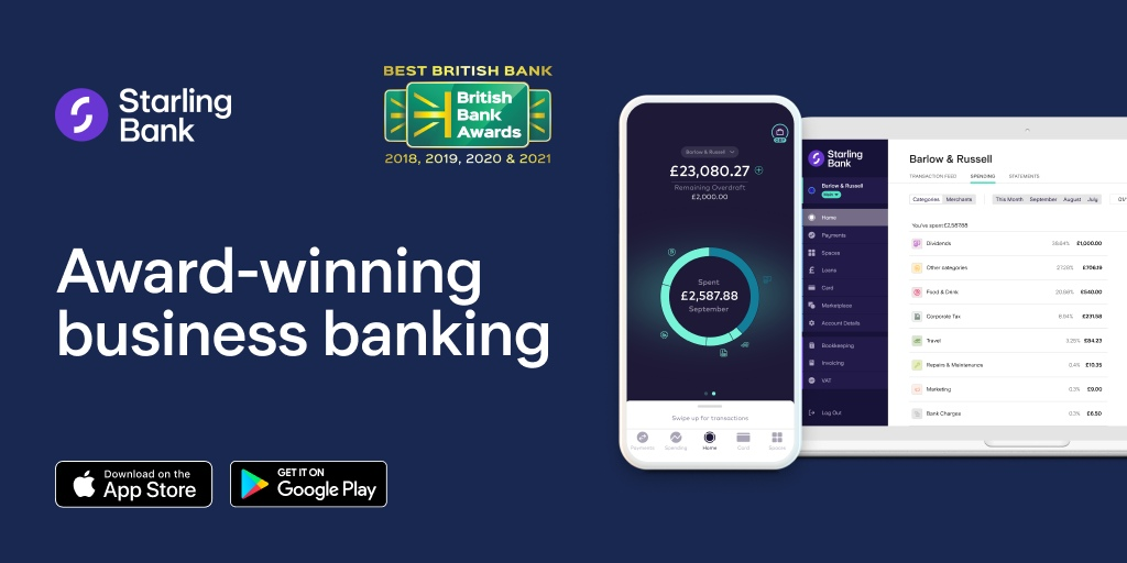 Business account - no monthly fees - apply in-app today - Starling Bank