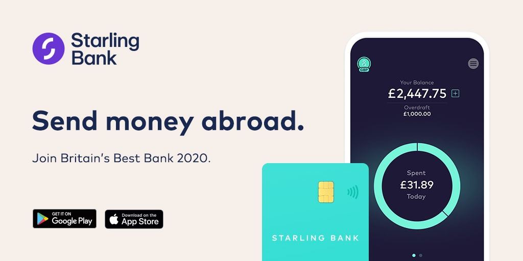 Send money abroad with no hidden fees - Starling Bank