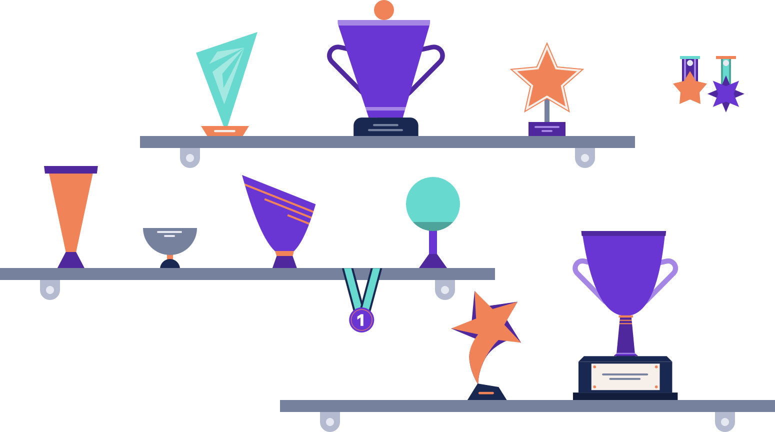 Awards and trophies illustration